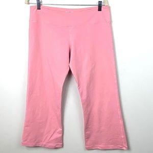 Lululemon Pink Flare Yoga Pants Crop Leggings 10